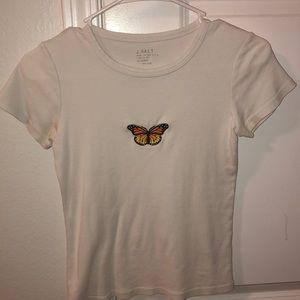 Brandy melville helen butterfly top